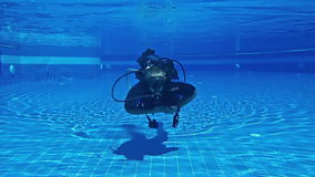 Scuba Diver stock video footage