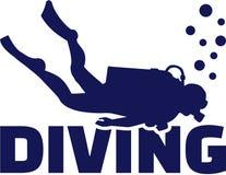 Scuba diver. Diving sports vector Royalty Free Stock Photo