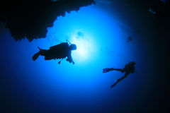 Scuba Divers Royalty Free Stock Photos