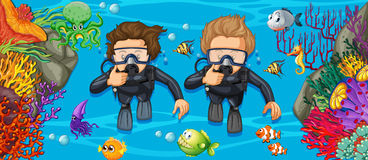 Free Scuba Divers In The Deep Blue Sea Stock Photos - 94115253