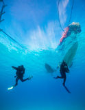 Scuba divers in the Red Sea Stock Photo