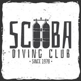 Scuba diving club. Vector illustration. Stock Images