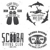 Scuba diving club. Vector illustration. Stock Photo
