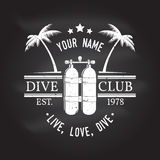 Scuba diving club. Vector illustration. Royalty Free Stock Image