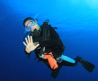 Female Scuba Diver Royalty Free Stock Images