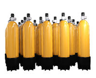 Scuba diving cylinders Stock Photography