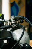 Scuba diving equipment, tank and regulators Stock Photos
