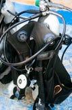 Scuba diving equipment, tank and regulators Royalty Free Stock Photography