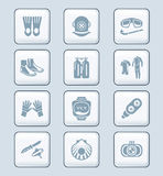 Scuba diving icons | TECH series Stock Images