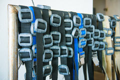 Scuba diving lead weight and belts Royalty Free Stock Photos
