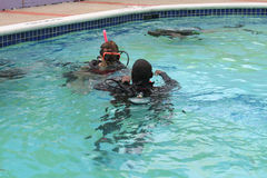 Scuba Diving Lesson Royalty Free Stock Image