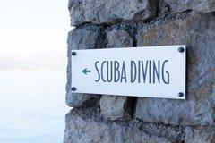 Scuba diving metal sign Royalty Free Stock Photos