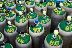 Scuba diving oxygen tanks Royalty Free Stock Photography