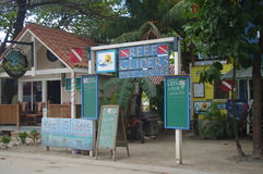 Scuba diving shop on Roatan island Royalty Free Stock Image