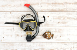 Scuba diving and snorkelling stock image
