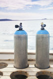 Scuba diving tanks Royalty Free Stock Photo