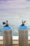 Scuba diving tanks Royalty Free Stock Photos