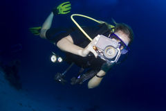 Scuba diving in thailand Stock Images
