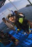 Scuba diving in thailand stock photos