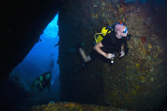 Scuba diving in thailand Royalty Free Stock Image