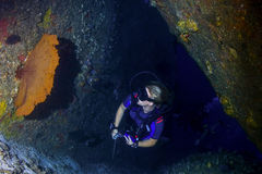 Scuba diving in thailand Stock Photo