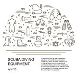 Scuba diving vector illustration Stock Photography