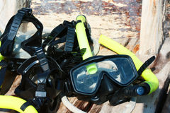 Scuba driving mask Stock Photo