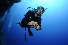 Scuba-duiker stock foto's