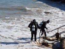 Scuba-duikers stock afbeelding
