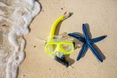 Scuba equipment on the beach Stock Photos