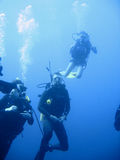 scuba för dykaregruppkurs Arkivfoto