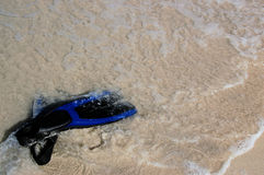 Scuba Fins. Scuba diving fins on the beach Stock Photography