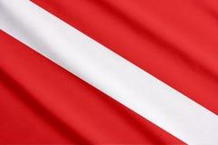 Scuba flag waving Stock Photo