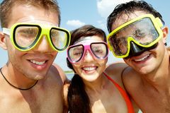 Scuba friends Royalty Free Stock Photography