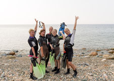 Scuba Girls Royalty Free Stock Images