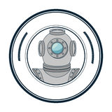 scuba maritime emblem icon Stock Photos