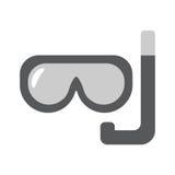 Scuba mask flat linear icon. Scuba mask single flat linear icon. Diving line vector icon for websites and mobile minimalistic flat design Royalty Free Stock Photo
