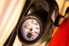 Scuba pressure air gauge indicator equipment tool royalty free stock photography