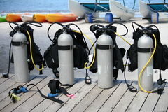 Scuba tanks Stock Photography