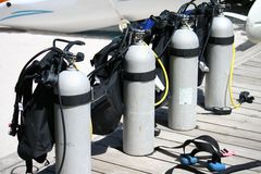 Scuba Tanks Royalty Free Stock Images