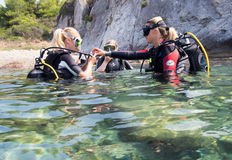 Scuba training Stock Images