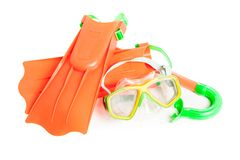 Scuba water diving equipment Royalty Free Stock Images