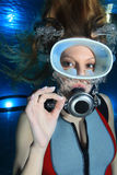 Scuba woman Royalty Free Stock Image