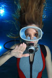 Scuba woman Royalty Free Stock Photo