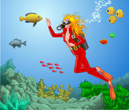 Scuba Women Stock Photos