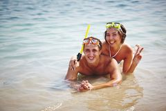 Scubadivers Royalty Free Stock Images