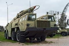 Scud missile complex. 9k72 Elbrus (Scud) missile complex Stock Image