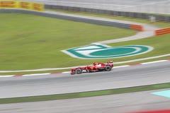 Felippe Massa出口转动1在马来西亚人F1 GP 免版税图库摄影