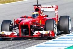 Scuderia法拉利F1, Pedro De La罗莎2013年 免版税图库摄影