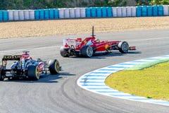 Scuderia法拉利F1, Pedro De La罗莎2013年 免版税库存照片